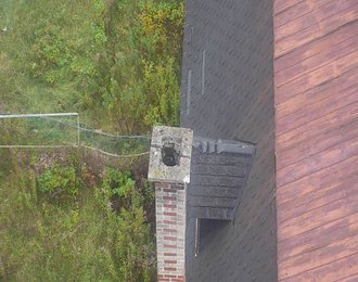 Inspection de cheminée par drone, chimney inspection with drone